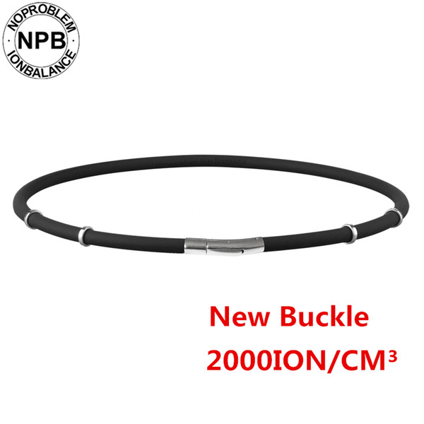Noproblem 058black Waterproof Ion Balance Therapy Health Neck Pain Relief Sports Silicone Tourmaline Germanium Necklace Y19050901