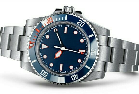 2019 high quality men's watch automatic mechanical military business Swiss watch blue dial mens watches 2813 Mechanical Ceramic bezel reloj