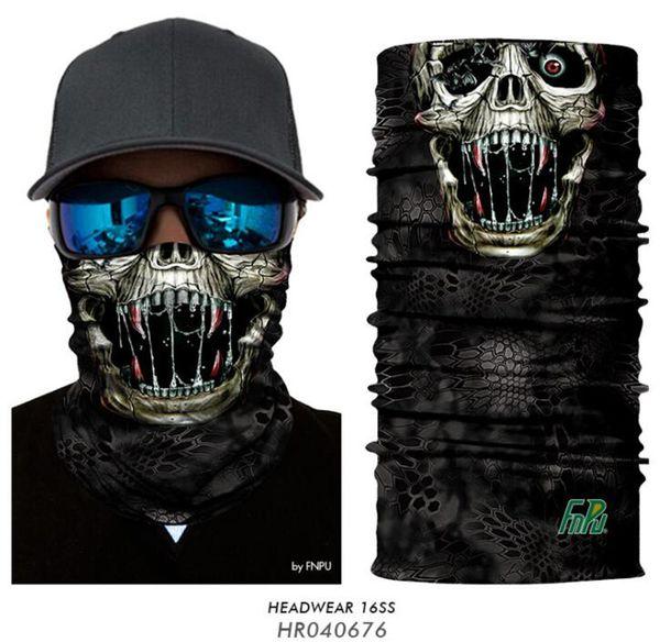 2019 Halloween 3D Skull Face Mask Headband Headwear Outdoor Sports Skiing Cycling Magic Scarf Neck Tube