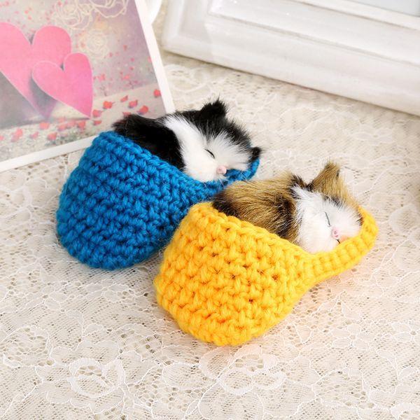 Sound Stuffed Toys Slipper Sleeping Cat Doll Simulation Girls Gift Fashion Decorations Colors Mix 4 95xd F1