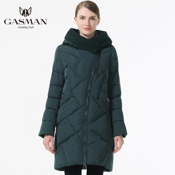 Gasman 2019 para baixo mulheres jaquetas mulheres inverno parka ocasional outerwear casaco de inverno com uma jaqueta de inverno capuz mulheres Y190926