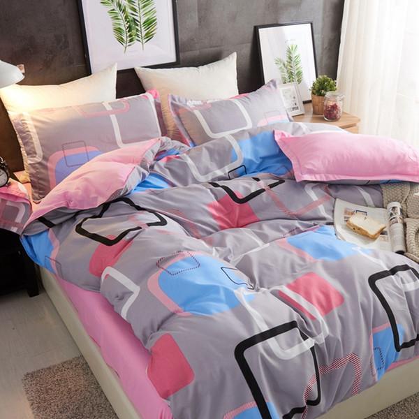 cama designer de edredons conjuntos 4pcs / set Red completa impressão de alta qualidade cama Set Linings Bed Duvet Cover Folha de cama Fronhas Cover Set