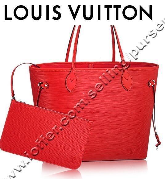 Neverful Mm M41159 Coquelicot rojo L de las mujeres del cuero bolsos de mensajero del hombro Totes icónica Cross Body Bags Asa Superior tarde de los embragues ZY4D