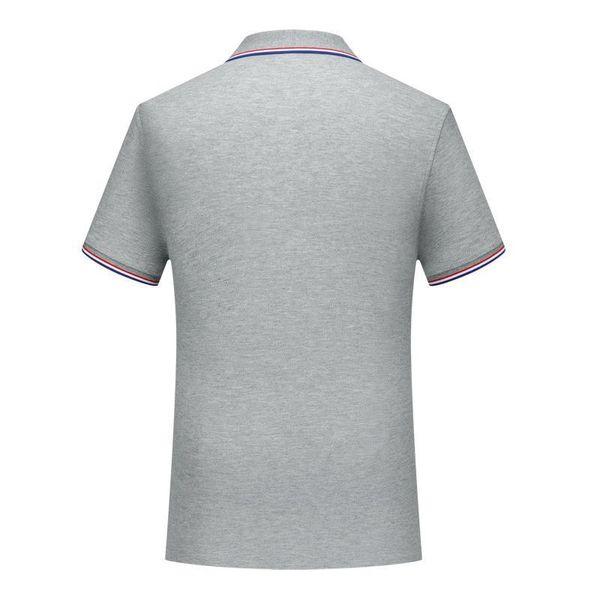 T-shirt grigia SD-CF-37 Nuovo rame fibra di cotone ammoniaca collare barrato manicotto donna camicia polo uomo uniforme