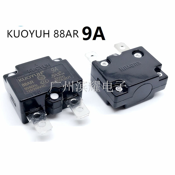 top popular Taiwan KUOYUH 88AR-9A Overcurrent Protector Overload Switch Automatic Reset 2021
