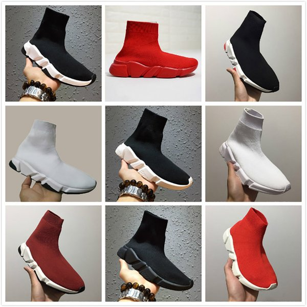 Горячая 2019 Носок Обувь Удобные Бегуны Гонки Случайные Кроссовки Высокое Качество черный Белый Красный Обувь Мужчины Женские Роскошные Кроссовки Без Коробки