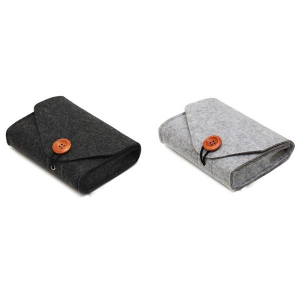 2019 moda banco de potência saco de armazenamento de 2 cores mini feltro adaptador bolsa para cabo de dados mouse viagem gadgets eletrônicos organizador