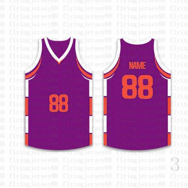 Лучшие Пользовательские Баскетбол Трикотажные мужские Вышивка логотипов Джерси Бесплатная доставка Дешевые оптовая любое имя любое число Размер S-XXL osttg5