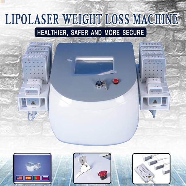Lipolyse kalter Lipo Laser Doppelte Welle Lipo Laser Maschine 12 Auflagen 336 Diodenlaser-Körper, der Schönheitsausrüstung abnimmt