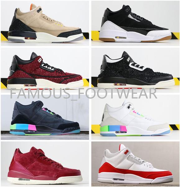 Chaussures de basket Vogue x J 3 de qualité supérieure 61X Bio Beige Bordeaux Quai 54 noir blanc Rainbow Rose Gold Tinker True Blue chaussures femmes