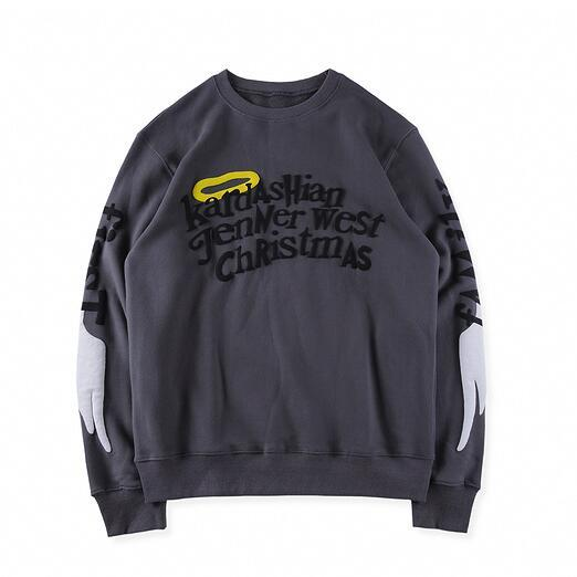 2019 Kanye West Family Christmas Embroidery Women Men Sweatshirts Hoodie Hiphop Streetwear Men Cotton Sweatshirt Pullover