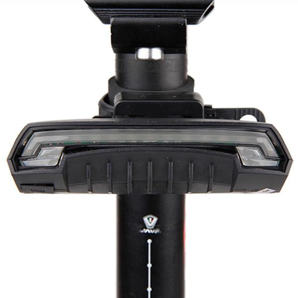 Aviso de Segurança da bicicleta Luz Traseira USB Bateria Embutida 125g de indução Recarregável Preto Bicicleta Rabo R1 Lâmpada