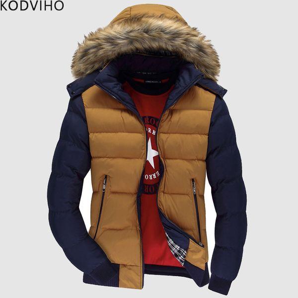 Männer Parka Winter Tragen Puffer Warme Jacke Herren Puffy Padded Mantel Mann Qulited Jacken Männlichen Casual Pelzkragen Hodded Mantel 2019