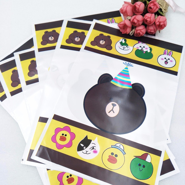 6pcs/set Gift bag baby or birthday party decoration set birthday bear theme party supplies decorating children's favorite