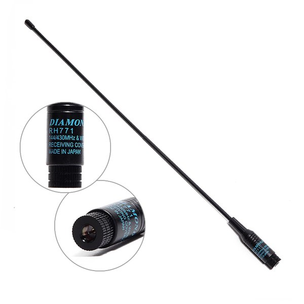 Diamond RH 771 SMA M Male Dual Band Soft 144/430MHz Antenna For Baofeng  Yaesu TYT TH UV8000D/E Wouxun KG UV8D/9D Walkie Talkie Best Walkie Talkie  For