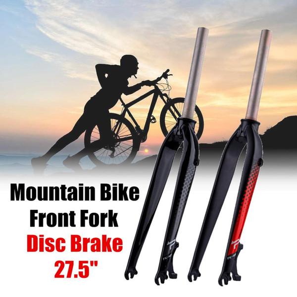10x67 cm Aluminium MTB Carbon Fahrrad Starrer Vorderradgabel Scheibenbremshalterung Verjüngte Mountain Road Fahrradteile Fahrrad Radfahren gabel