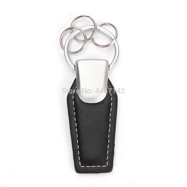 Leather Car Logo Keychain For Honda Lexus Audi Bmw Benz Volkswagen Jaguar Peugeot Keyring Key Chain Ring
