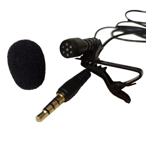 Universal Portable 3.5mm Mini Computer Microphone Lapel Lavalier Clip Mic for Lecture Teaching Conference Guide Studio