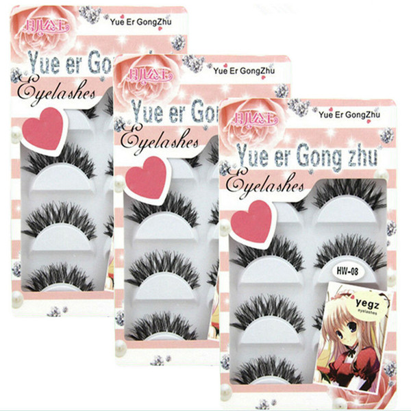 5 Pairs False Eyelashes Faux Mink Lashes Soft Cross Messy Natural Thick Fake Eye Lashes Makeup Eyelash Extensions