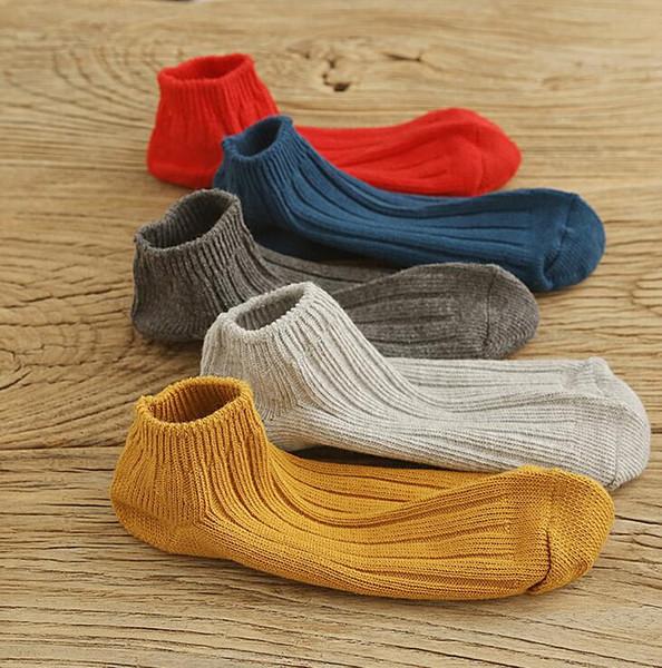 Весной и летом хлопчатобумажные носки толстые линии двойной иглы темные полосы вертикальные школьные ветер дикие носки мелкие рот оптом