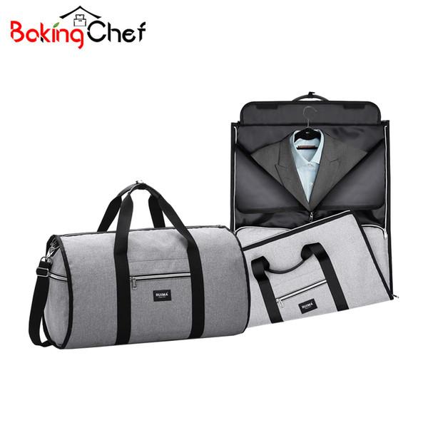 Bakkingchief portátil sacos de armazenamento de viagem de negócios terno vestuário garment dust case capa documento digital organizadores bolsa