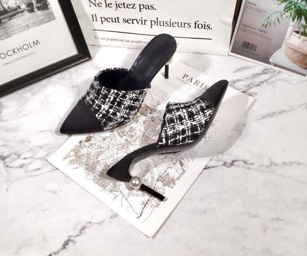 Yeni kadın deri yüksek topuklu ziyafet düğün ayakkabı elbise parti ayakkabı yüksek topuk sandalet terlik Düz Rahat ayakkabılar Kama sandalet