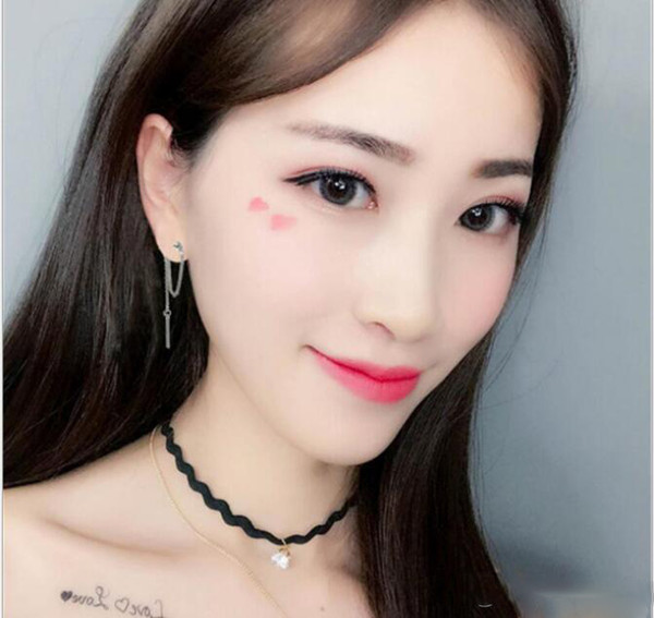 Korean Version Of Jewelry Earring Tassel Fashion Retro Long Earrings Chain Metal Texture Earrings Wholesale Dangle Earrings