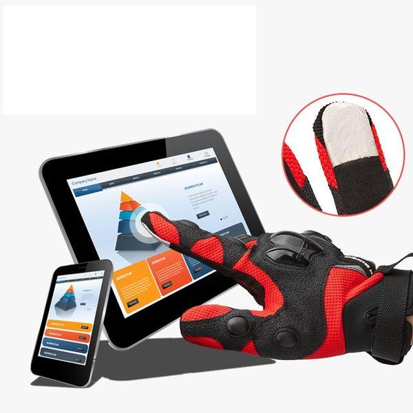 Nuovi guanti da ciclismo in cotone traspiranti Guanti da corsa / moto Guanti touch screen da 3 cm pieno dito del cavaliere