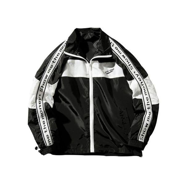 Jacket Mens New Zipper Windbreaker Jackets Overcoat Male Long Sleeve Splice Hip Hop Jackets Coats Brand Streetwear Men's Clothing Jackets