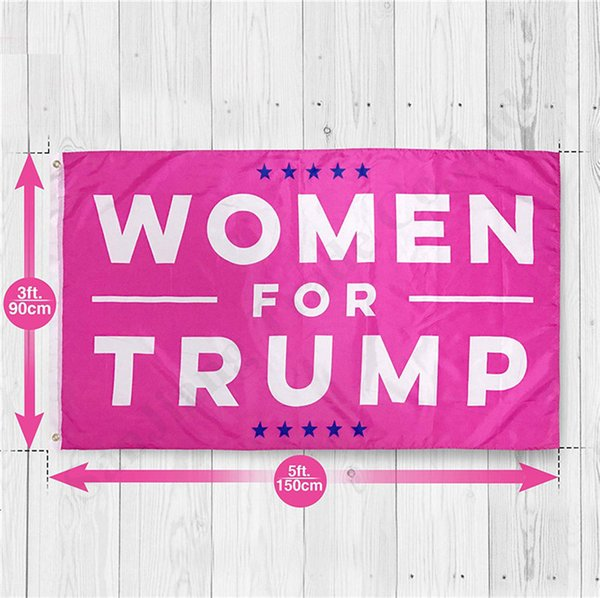 top popular New Woman For Trump Flag America Election President Donald Trump Flag 2020 Flag Pink Women Lady 90*150cm Supporter Banner Decor A122602 2021