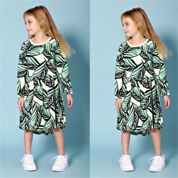 Newborn KIds Lovely Baby Girls Clothes Leaves Print Christmas Dress Princess Party Children Clothing Cotton Long Sleeve Newborn KIds Lovely Baby Girls Clothes Leaves Print Christmas Dress Princess Party Children Clothing Cotton Long Sleeve