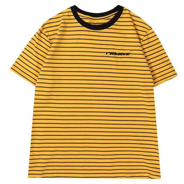 SS Designer Mens Tshirt Fashion Stripe Sports Tshirts Slim Comfort T-shirt Cotton Print T-shirts Men Women Palaces Sets Trends Quality tees