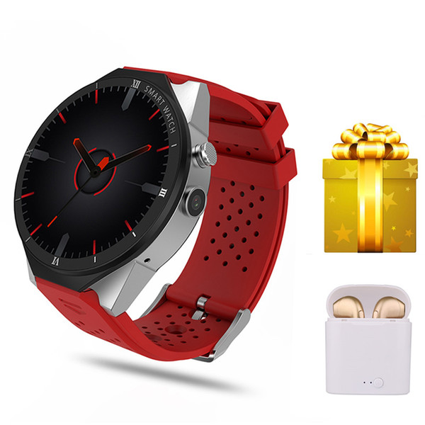 lenovo 9 Huawei VS KW88 için fransız android izlemek bağlı zegarek Kingwear SmartWatch + kulaklık Akıllı izle GPS