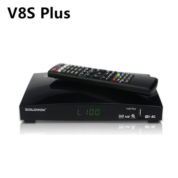 Receptor de sintonizador de TV digital DVB-S2 HD Receptor de satélite MPEG4 H.264 V8S Plus con 6 meses de código de TV en rueda 250+ canales en vivo del Reino Unido