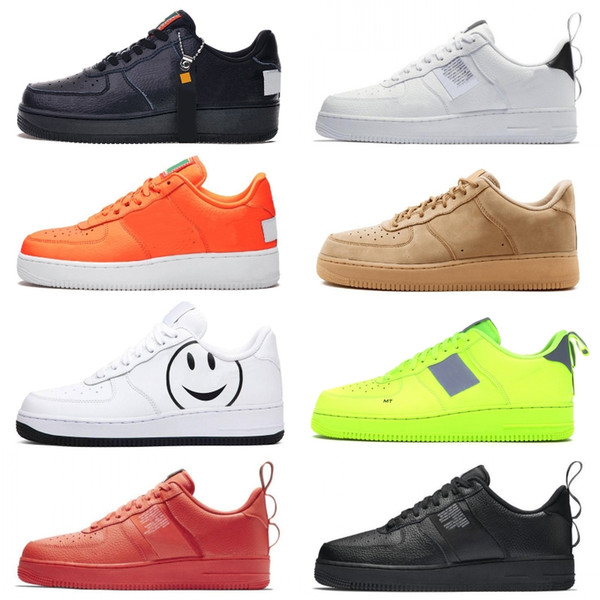 best selling 1 Utility Black White One designer shoes running shoes men women do it pack black white obsidian flat high platform trainers sneakers