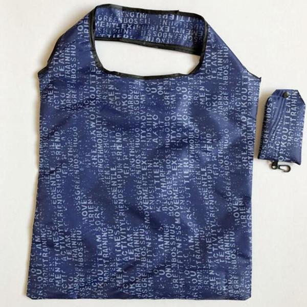 top popular Portable Shopping Bag Supermarket Large-capacity Folding Shopping Bag Printing Polyester Women Shopping Durable Storage Bags 360pcs IIA104 2021