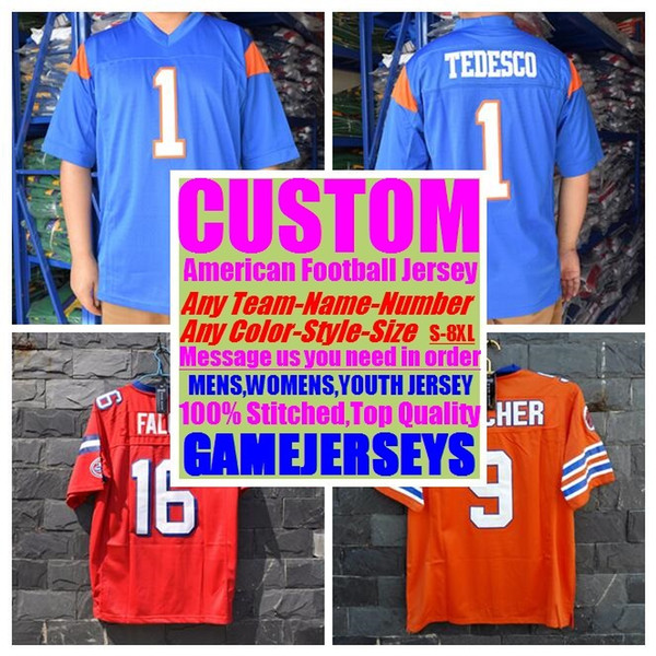 best selling 2019 Customized american football jerseys college cheap authentic rugby retro sports jersey stitched mens womens youth kids 4xl 5xl 6xl 7xl