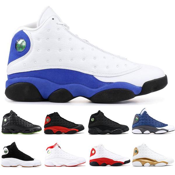Neue mode 13 13 s Qualität Herren Basketball Schuhe Gezüchtet Schwarze Katze Er Erhielt Spiel Paul Paul XIII Herren Leichtathletik Turnschuhe 40-47