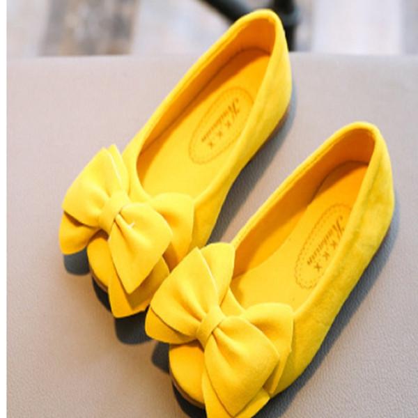 Güzel Çocuk Kız Prenses Ayakkabı Çocuklar Kız Rahat Tek Ayakkabı Yumuşak Slip-on sığ ağız