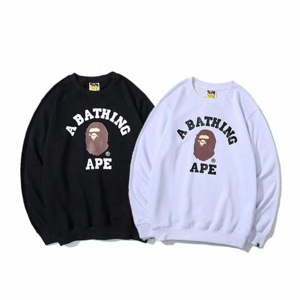 best selling Bape Hoodie Hip Hop Sweatshirts Men Women Designer Hoodies Black White High Quality Long Sleeve Mens Designer Hoodie Jacket M-XXL