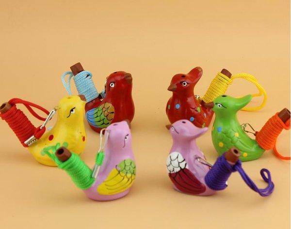 240 pçs / lote Estilo Vintage Handmade Cerâmica Apito Pássaro De Água Argila Canção Chilrear Pássaros Presente Da Festa de Natal