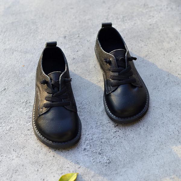 Chicos de cuero genuino Zapatos de cuero Zapatos Oxford Moda infantil Escuela infantil Zapatillas Tamaño 26-36