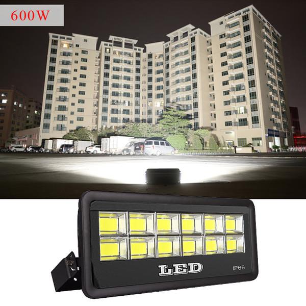 Spotlight LED Outdoor Flood luminária 600W 500W 400W 300W IP66 Waterproof Exterieur COB Projector 90 graus Ângulo de feixe