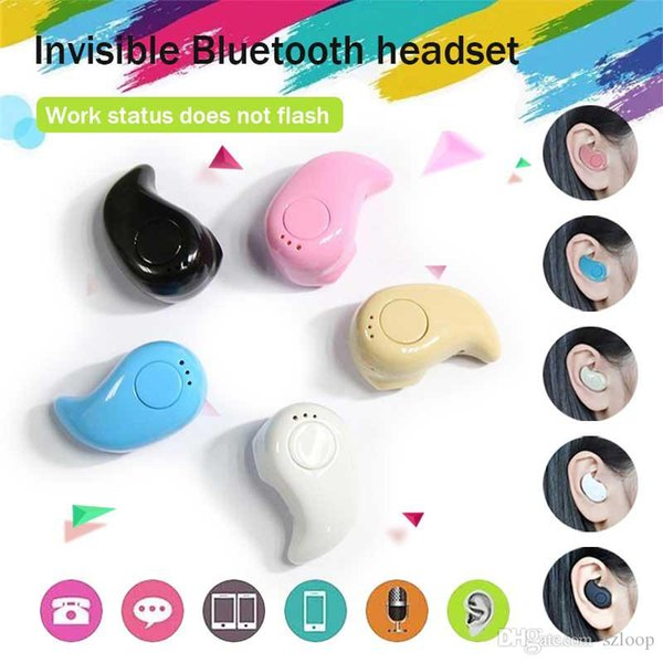 Mini Style Wireless Bluetooth Earphone Bluetooth Headset S530 V4.1 Sport Headphone Phone With Micro Phone For Iphone Phone PC in Crystal Box
