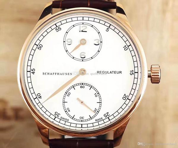 Un orologio da uomo di lusso delle migliori marche serie portoghese IW544402 544403 acciaio inossidabile oro rosa meccanico meccanico cinturino in pelle moda orologio da polso