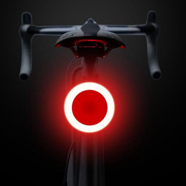 Bisiklet arka lambaları USB şarj dağ bisikleti ışıkları su geçirmez Güvenlik Uyarı Işık yol bisikleti sürme yaratıcı arka lambası ekipman LJJZ49