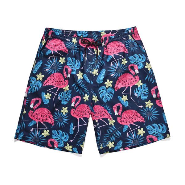 Летние мужские дизайнерские шорты модный бренд шорты с рисунком фламинго новый большой размер быстросохнущие повседневные шорты M-2XL оптом