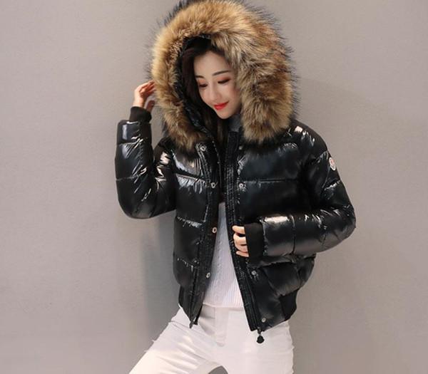 2019 nuevo invierno de la chaqueta de algodón acolchado Escudo de algodón delgado de la chaqueta de las mujeres Mujeres Parkas grueso Mujer Prendas de abrigo rojo Negro Ropa 186