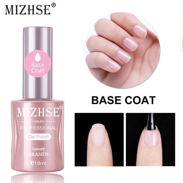 MIZHSE Base Coat Soak Off Gel Vernis À Ongles UV LED Nail 18ml Transparent Soak Off Base Gel Gel Laque Art Manucure