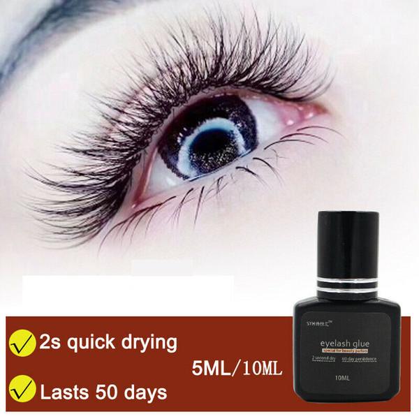 Göz Kirpik Güzellik Kozmetik için Buraya, 510mL / Şişe Kirpik Tutkal Su geçirmez Yanlış Eyelashes Uzatma Yapıştırma Tutkal Yapışkan Makyaj Araçları